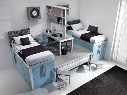 Maximize Bedroom Space Fair With Small Rooms with Bunk Beds for Teens Pictures